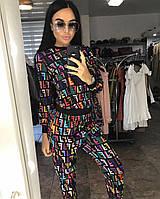 Яркий женский спортивный костюм Fendi цветной фенди S M  42 44 CAVALIERI