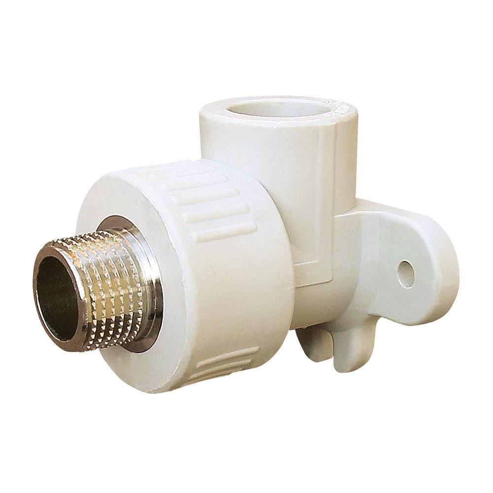 1012 Угол установочный 20 мм на 1/2' НР «VS Plast» полипропиленовый с наружной резьбой