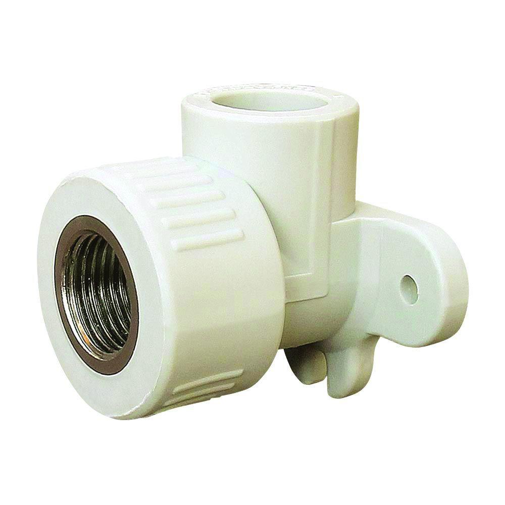 1011 Угол установочный 20 мм на 1/2' ВР «VS Plast» полипропиленовый с внутренней резьбой