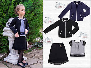 Школьная юбка для девочки Школьная форма для девочек MONE Украина 1519 , черная
