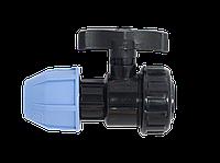 Кран шаровый полиэтиленовый VS Plast 6002 32мм на 1' внутренняя резьба зажимной