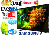 "🔥✅ LED Телевизор Samsung 42"" SMART TV, DVB-T2 L42 Реплика (LY385D16A1811060304) Wi-Fi, USB HDMI"