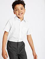 Рубашка для мальчика с коротким рукавом в школу