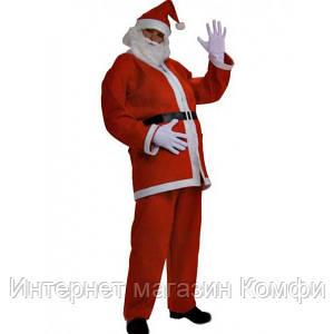 🔥✅ Оригинальный новогодний костюм Деда Мороза взрослый, новый год 2015, Санта Клауса, Santa Claus