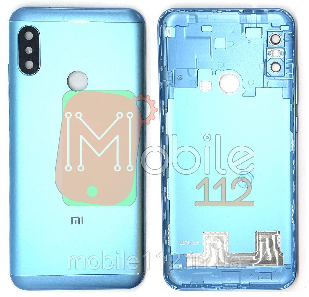Задняя крышка Xiaomi Mi A2 Lite Redmi 6 Pro синяя оригинал PRC