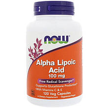 """Альфа-липоевая кислота NOW Foods """"Alpha Lipoic Acid"""" 100 мг (120 капсул)"""
