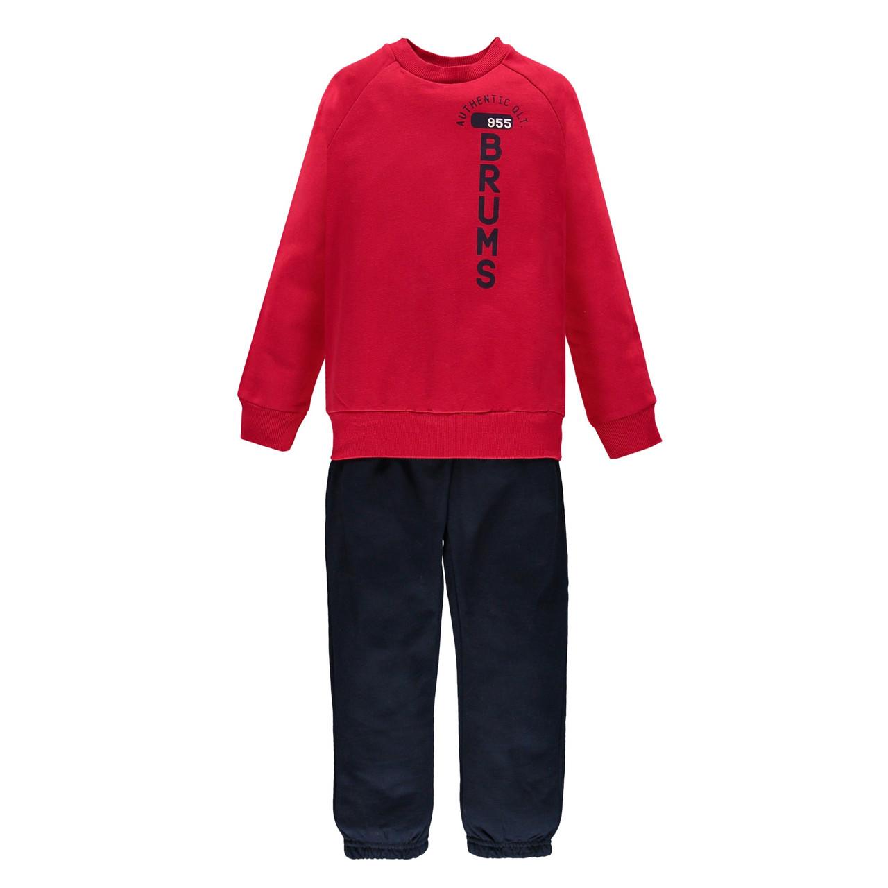 Спортивний костюм з толстовкою з логотипом Brums 000BFEP002 червоний 110-122
