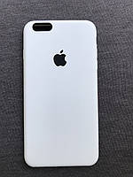 Силиконовый чехол Apple Silicone белыйiPhone 6+ / 6s plus Soft touch white Люкс качество чехлы на айфон