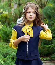 Школьный жилет для девочки Школьная форма для девочек MONE Украина 1426-1