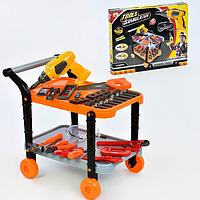 Детский набор инструментов на тележке