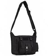Армейская наплечная тактическая сумка 10L черная, фото 1