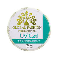 Гель прозрачный Global Fashion UV gel 15 грамм