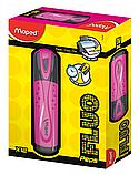 Текст-маркер FLUO PEPS Classic розовый Maped, фото 2