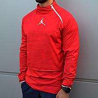 Мужская куртка ветровка анорак Jordan красная