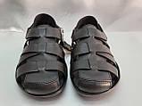 Чёрные летние сандалии кожаные Bertoni, фото 3
