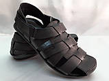 Чёрные летние сандалии кожаные Bertoni, фото 2
