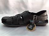 Чёрные летние сандалии кожаные Bertoni, фото 5