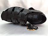 Чёрные летние сандалии кожаные Bertoni, фото 6