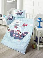 """Детский комплект постельного белья, """"Корабль"""", Ранфорс, 100% хлопок"""
