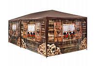 Садовый павильон-палатка 3х6 м 6 стен (Коричневый)