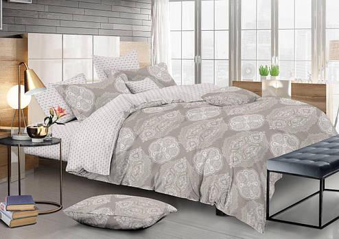 Двуспальный комплект постельного белья евро 200*220 сатин (12475) TM КРИСПОЛ Украина, фото 2