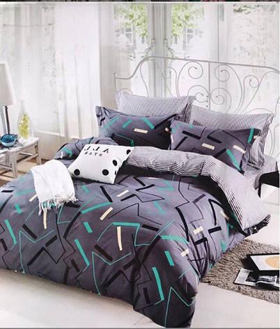 Двуспальный комплект постельного белья евро 200*220 сатин (12481) TM КРИСПОЛ Украина, фото 2