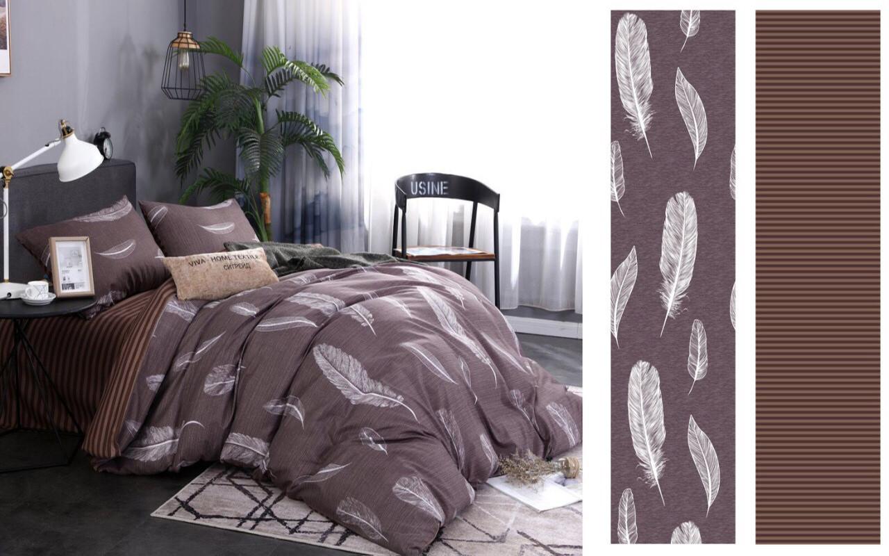 Семейный комплект постельного белья сатин (12488) TM КРИСПОЛ Украина
