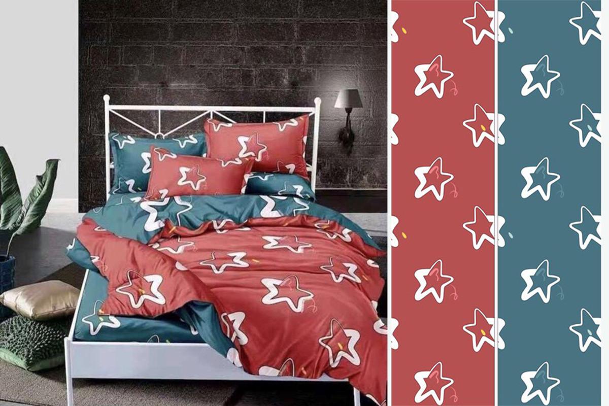 Семейный комплект постельного белья сатин (12490) TM КРИСПОЛ Украина