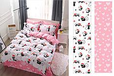 Двуспальный комплект постельного белья 180*220 сатин (12465) TM КРИСПОЛ Украина