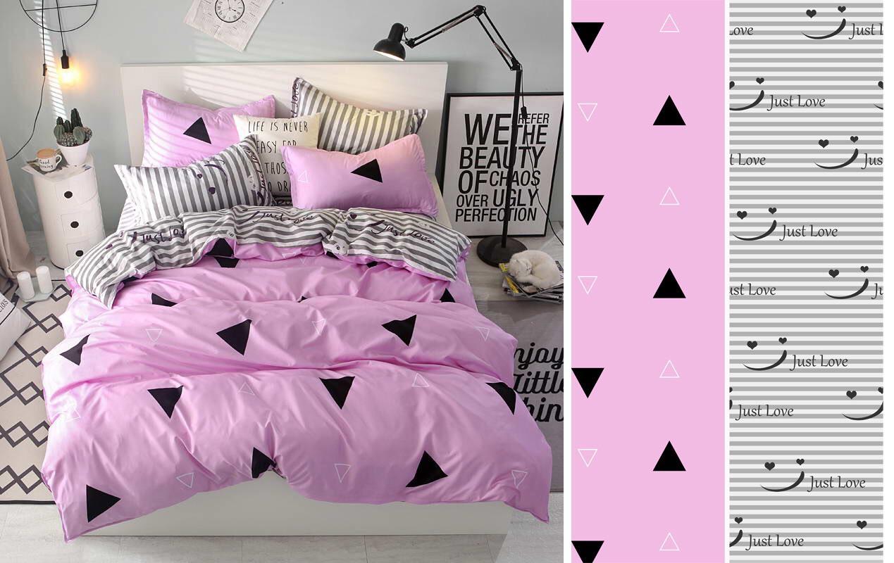 Двуспальный комплект постельного белья евро 200*220 сатин (12473) TM КРИСПОЛ Украина