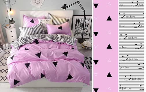 Двуспальный комплект постельного белья евро 200*220 сатин (12473) TM КРИСПОЛ Украина, фото 2