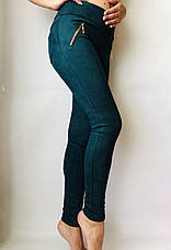 Замшевые лосины  № 74 зеленые, фото 2
