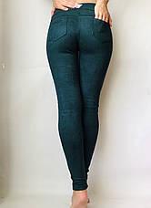 Замшевые лосины  № 74 зеленые, фото 3