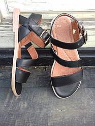 Женские сандалии кожаные Чёрный Размеры 36 37