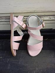 Женские сандалии кожаные Пудра Размеры 36 37 38