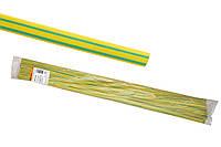 Термоусаживаемая трубка ТУТнг 2/1 желто-зеленая по 1м (200 м/упак) TDM