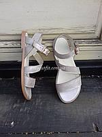 Женские сандалии кожаные Бежевый металик | Размер 37 |