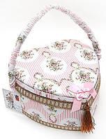 """Шкатулка для рукоделия """"Весна в Париже Classic Pink Heart"""", 24x24x12см"""