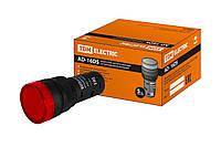 Лампа AD-16DS(LED)матрица d16мм красный 12В AC/DC TDM