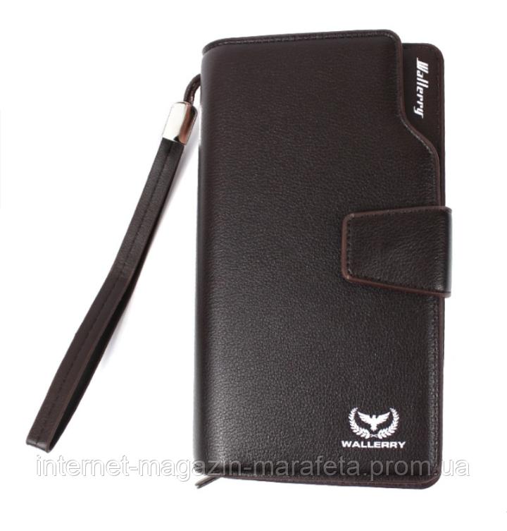Мужской Кошелек портмоне Wallerry S1063/ коричневый