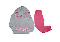 Костюм ТМ Grace 70593 серо-розовый цвет (110-116)