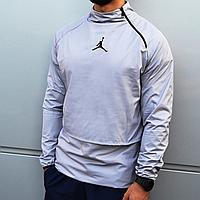 Мужская куртка ветровка анорак Jordan серая
