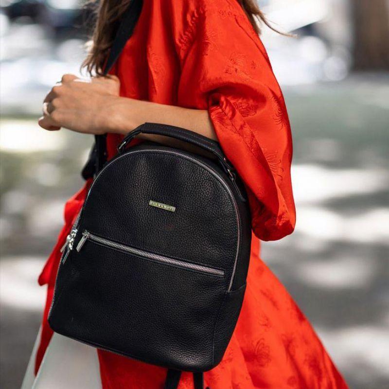 Кожаный мини-рюкзак BlankNote Kylie Оникс (BN-BAG-22-onyx)