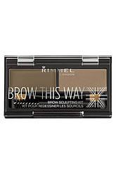 Rimmel - Набор Для моделирования бровей - Brow This Way - 002 2 -мл Код 2161
