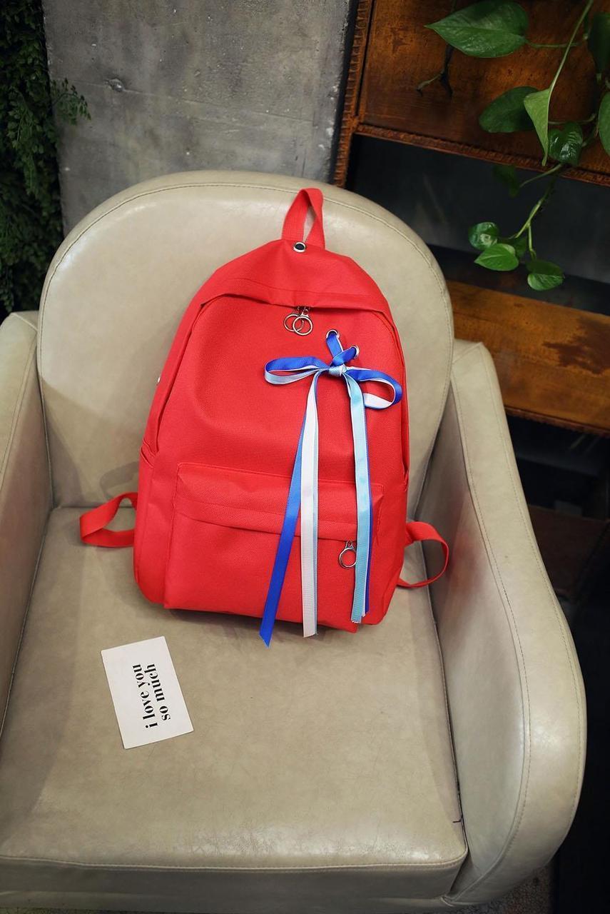 Рюкзак Kronos Top С лентами Красный (stet_914.3)