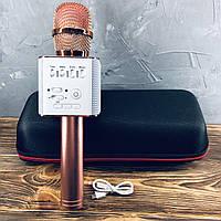 Беспроводной микрофон для караоке Q9 Розовое золото