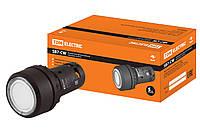 Кнопка SB7-CW3161-220V(LED) d22мм 1з белая TDM