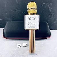 Беспроводной микрофон для караоке Q9 Золото