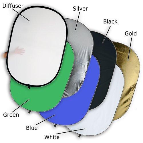 Овальный отражатель 7 в 1 рефлектор или лайт диск 100 х 150 см