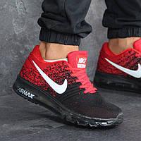 Мужские кроссовки 8177 черно Красные, фото 1